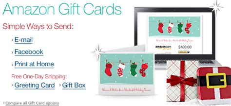 Amazon Gift Card Increments - last minute gift idea amazon gift card email facebook or print them free 1 day