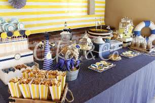 kara s party ideas yellow and blue nautical birthday party ideas supplies planning idea
