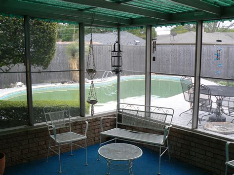 Closed In Patio by Our Flip Taking The Pool From Gross To Grand It S Great