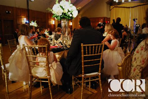 chiavari chairs wedding arbor mi beautiful gold chiavari chairs at the michigan league in