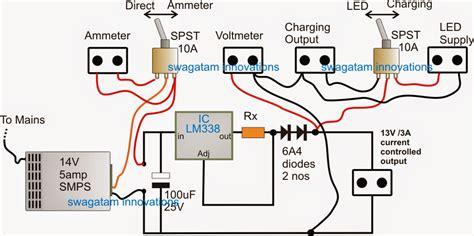 12v led backpack power supply circuit