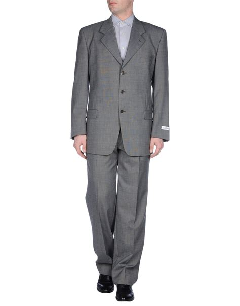 Valentino Suit valentino suit in gray for grey