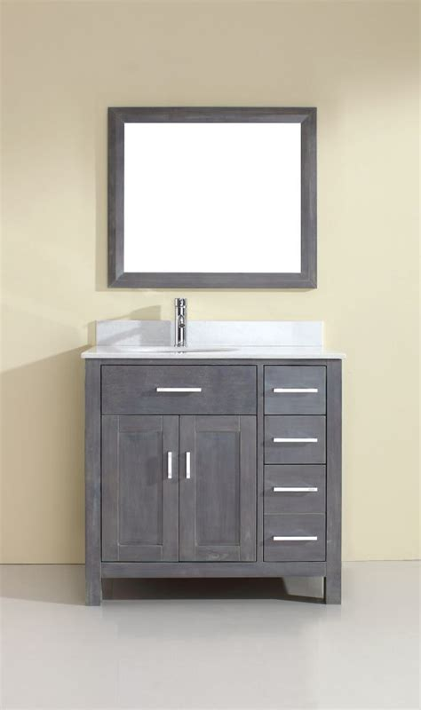 bath vanity combos in canada canadadiscounthardware com kalize 36 french gray vanity ensemble with mirror and