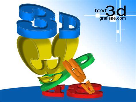 membuat logo jadi 3 dimensi cara membuat teks 3d 3 dimensi tutorials download