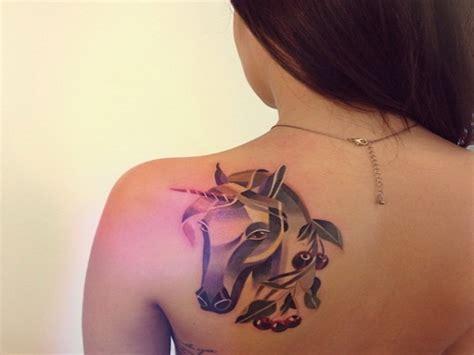 easy unicorn tattoo 5 exciting unicorn tattoo designs for women gilscosmo