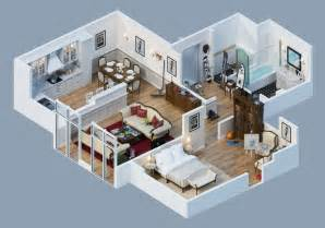 3d home design apartment designs shown with rendered 3d floor plans