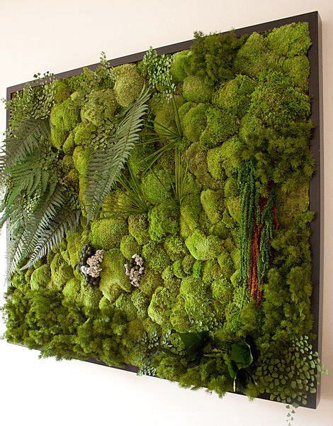 green wall decor stabilized plant green wall jardines verticales pinterest