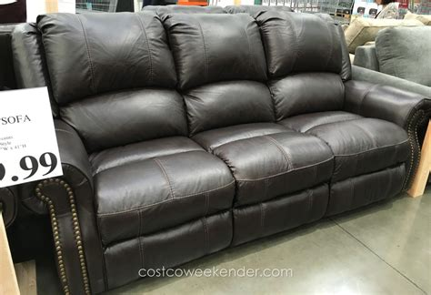 costco leather sofa review berkline leather reclining sofa costco weekender