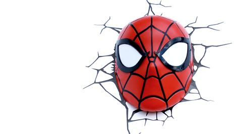 Football Wall Sticker spider man mask 3dlightfx