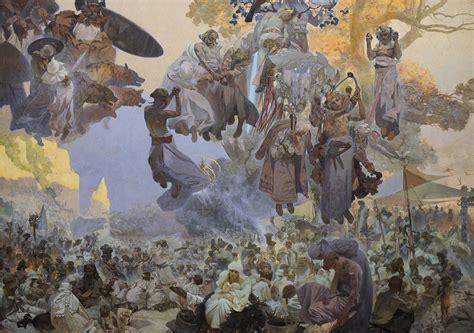 all painting free bensozia alfons mucha s slavic epic