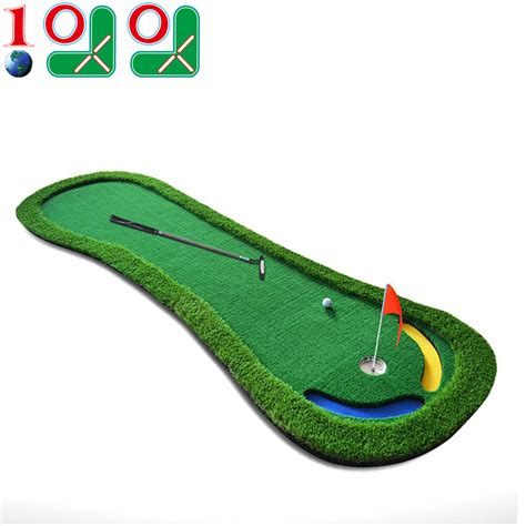 Putting Mat Golf by 10l0l Mini Golf Putting Mat Artificial Green With Slope