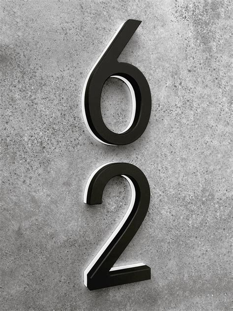 lighted house numbers luxello modern black lighted house numbers 8 surrounding com