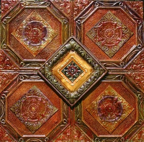 tin ceiling tiles rustic rooms pinterest