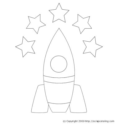 rocket template rocket coloring page
