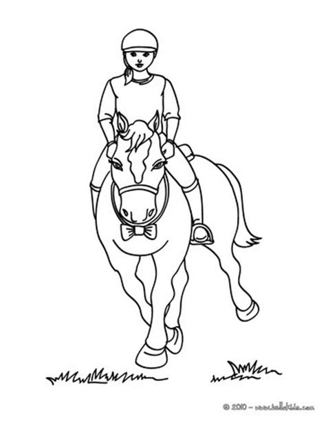 horse trainer coloring page girl on a horse coloring pages hellokids com