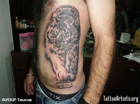 rib cage tattoos for guys tiger rib cage pictures to pin on tattooskid