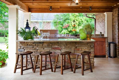 Stone Bar Ideas Basement Traditional With Stacked Stone Outside Patio Bar Ideas