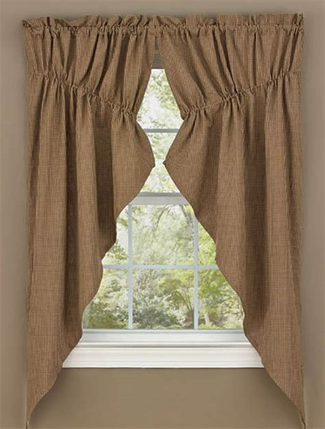 brown swag curtains shades of brown lined gathered window curtain swag