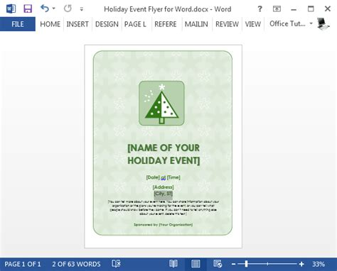 Free Holiday Flyer Templates For Word