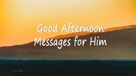 Good Afternoon Messages for Boyfriend or Husband   WishesMsg