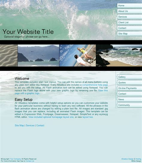design html template web viewer oceanscape business web templates ocean theme