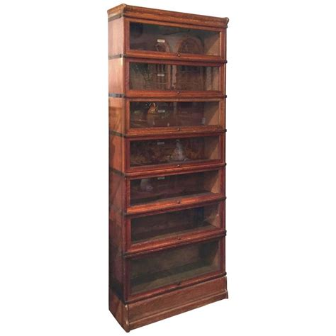 globe wernicke large stacking lawyer s bookcase of oak at