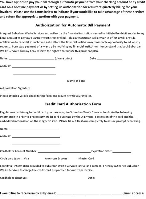 One Time Credit Card Authorization Form Template Image Gallery Payment Authorization