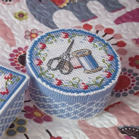 new plastic canvas free patterns instant download sewing basket plastic canvas design free