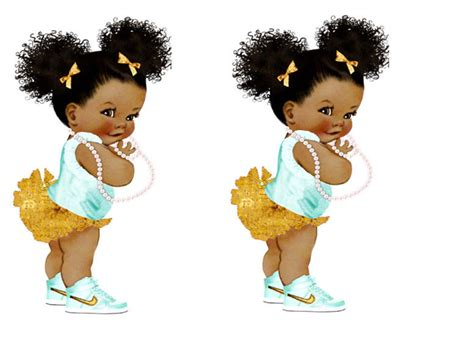 Afro Puff Baby Template
