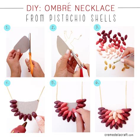 Handmade Projects - diy ombr 232 necklace from pistachio shells
