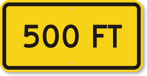 500 ft to miles custom distance road signs add own miles and feet