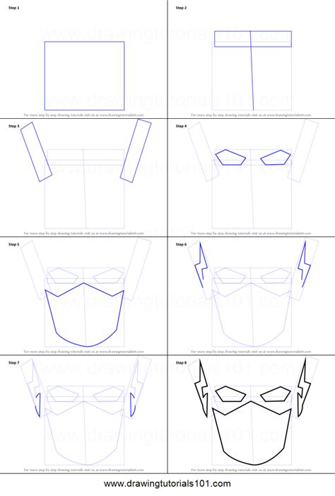 how to the how to draw the flash for printable step by step drawing sheet