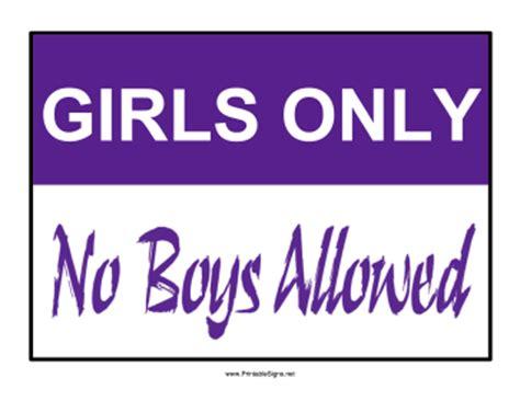 Bedroom Door Signs printable girls only sign sign