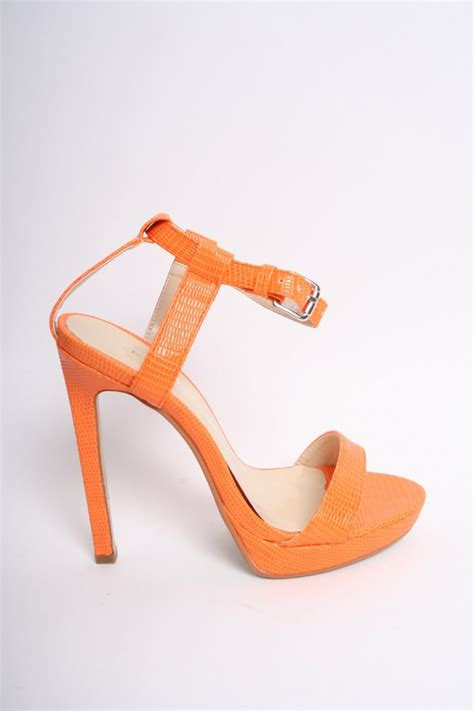 Orange Wedges By C Boutique orange lizard patent strappy heels shoes from dollywood