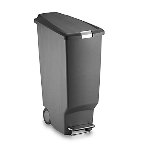 bed bath and beyond simplehuman trash can buy simplehuman 174 slim plastic 40 liter step on trash can