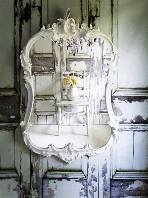 shabby chic mirror o r n a t e oval white mirror shabby chic cottage chic