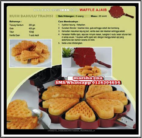 video membuat waffle marshaena collection resepi kuih bahulu versi waffle ajaib