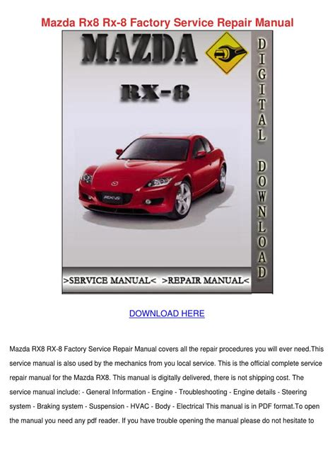 small engine repair manuals free download 1993 mazda protege interior lighting mazda rx8 rx 8 factory service repair manual by clydebrackett issuu