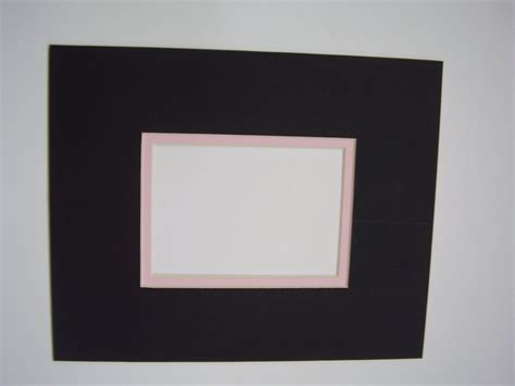 picture frame mat black with pink liner 8x10 for 4x6