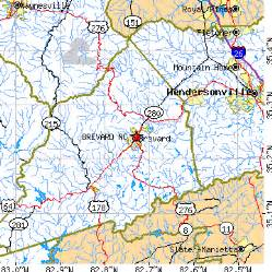 brevard nc map carolina foto 2017