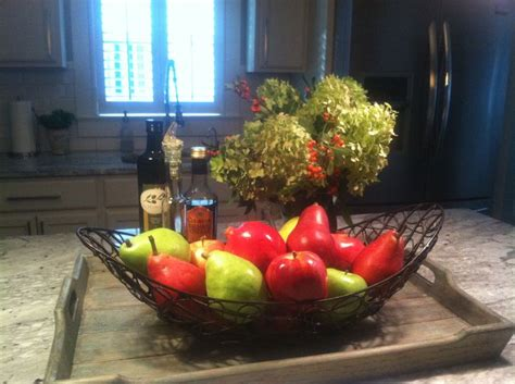kitchen island centerpiece fall centerpiece for my kitchen island holidays pinterest