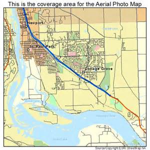 aerial photography map of cottage grove mn minnesota