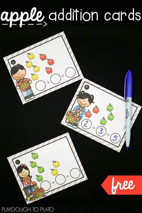 Printable Apple Gift Card - free printable apple addition cards