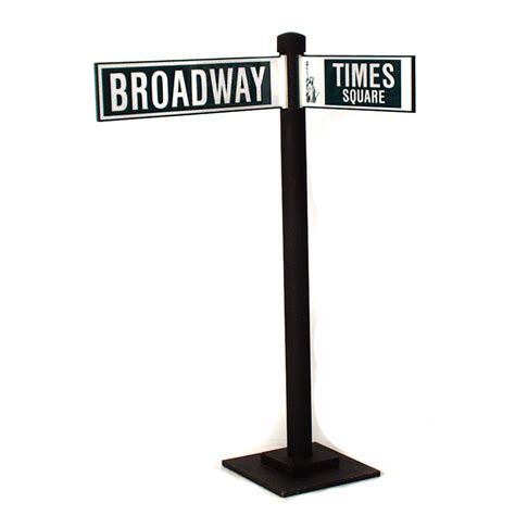 Caribbean Home Decor Broadway At Times Square Street Sign The Prop Shop