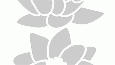 stencil fiore stencil fiore di loto