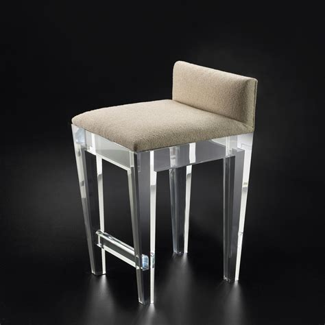 lucite counter chairs accentuate empty corners at your home with acrylic counter