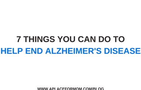 7 Things You Can Do On A Tight Budget by 7 Things You Can Do To Help End Alzheimer S Disease