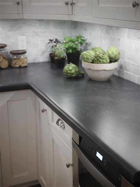 Kitchen with Formica® laminate Basalt Slate countertop