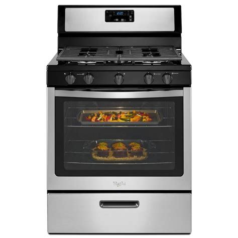 whirlpool gas range reviews shop whirlpool 5 burner freestanding 5 1 cu ft gas range