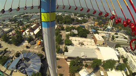 cedar point swing ride cedar point swings youtube